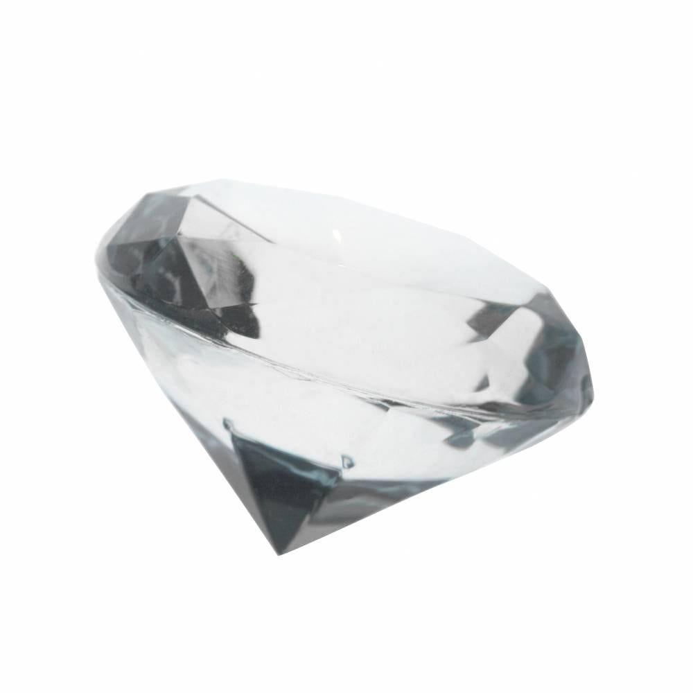 Très gros diamants transparents ø 3,5 cm - par 6 lots de 4