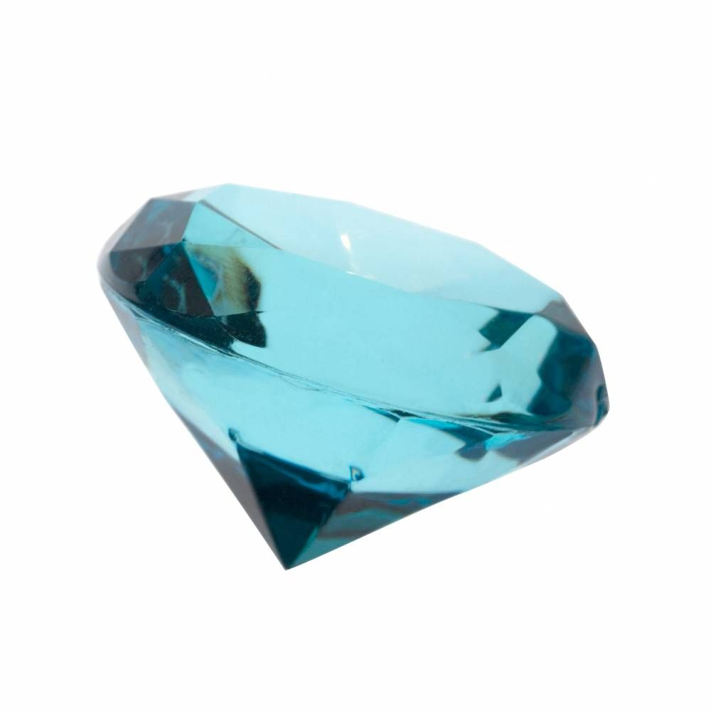 Très gros diamants turquoise ø 3,5 cm - par 6 lots de 4