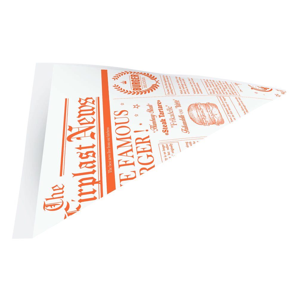 Cones papier pm fish § chips ppt papier journal 175x175x240 mm - par 1500