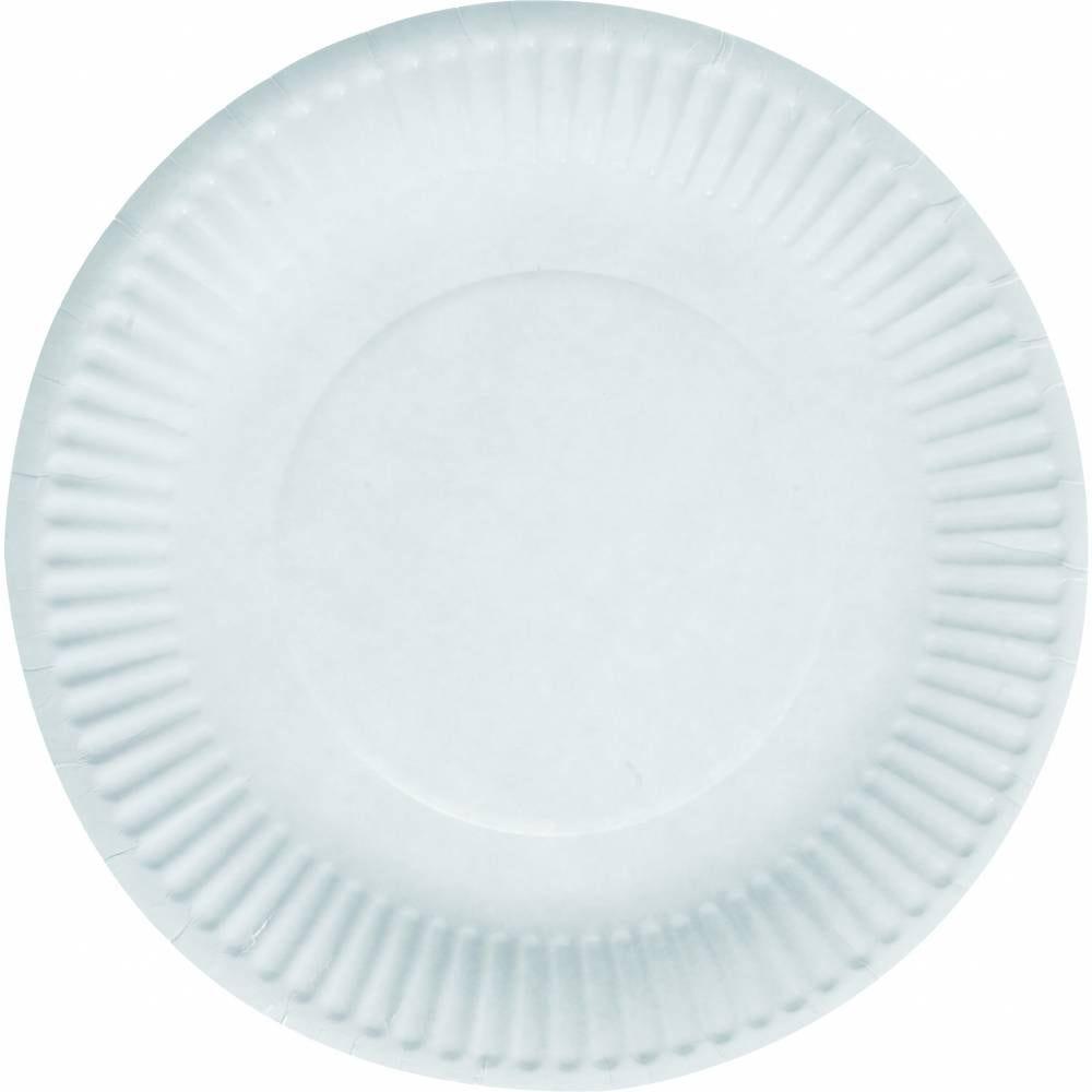Assiettes ø 23 cm carton blanc - par 1000
