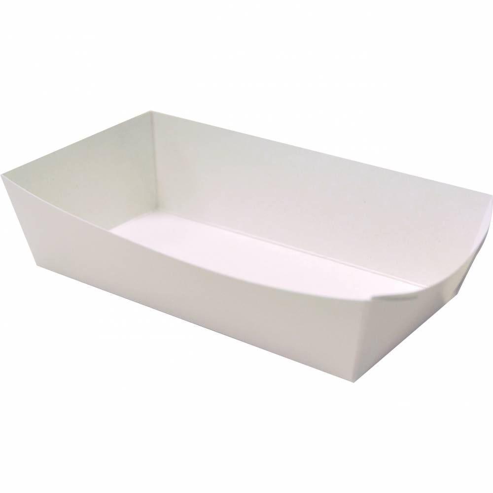Barquettes frites carton kr.blanc ingraiss 140x70x40 mm - par 500