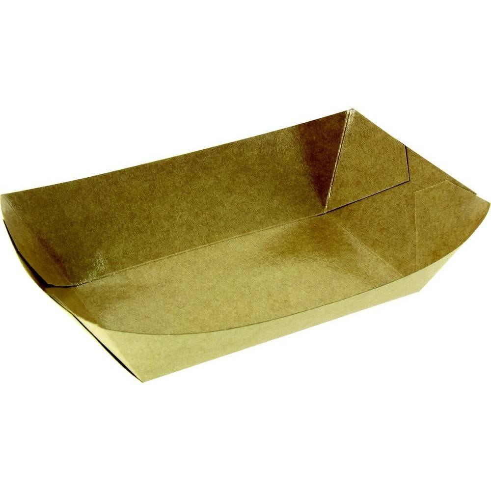 Barquettes carton kraft brun 105x65x45 mm 350 cc - par 1000