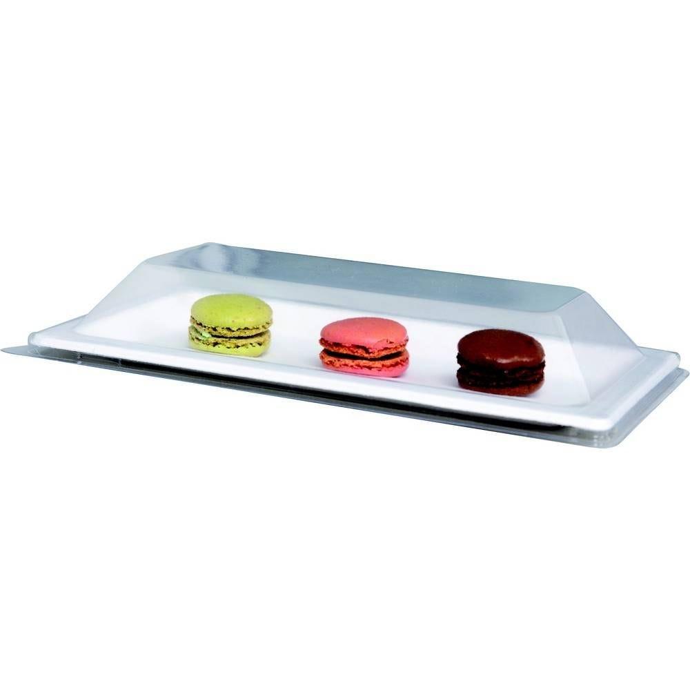 Couvercles transparents pet pour assiette pulpe rectangulaire N37RR09 - par 300
