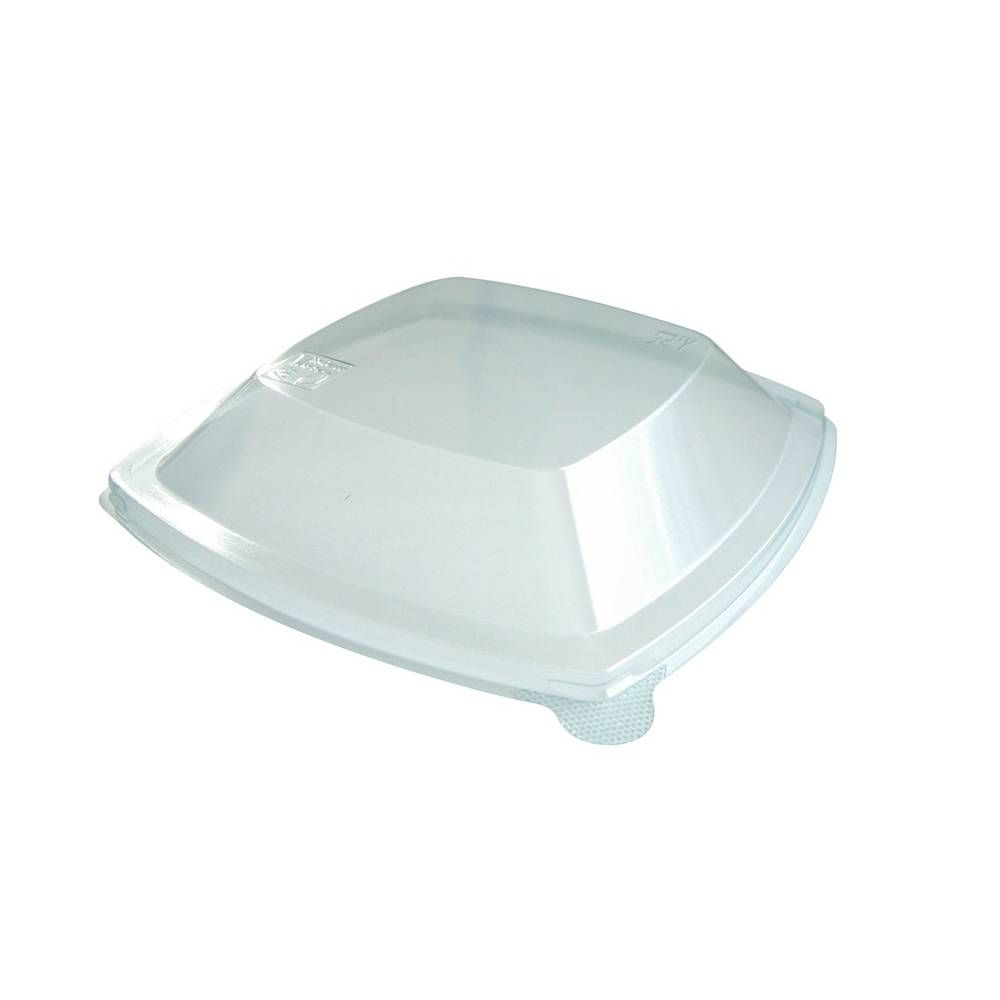Couvercles transparents pet pour assiette pulpe carrée 21x21 cm - par 300