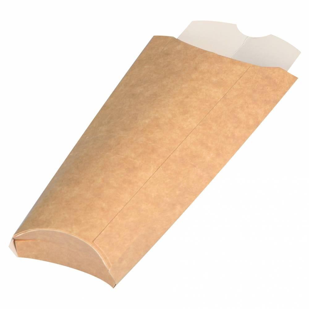 Etuis tacos carton int. blanc ext. brun 225x130mm - par 500