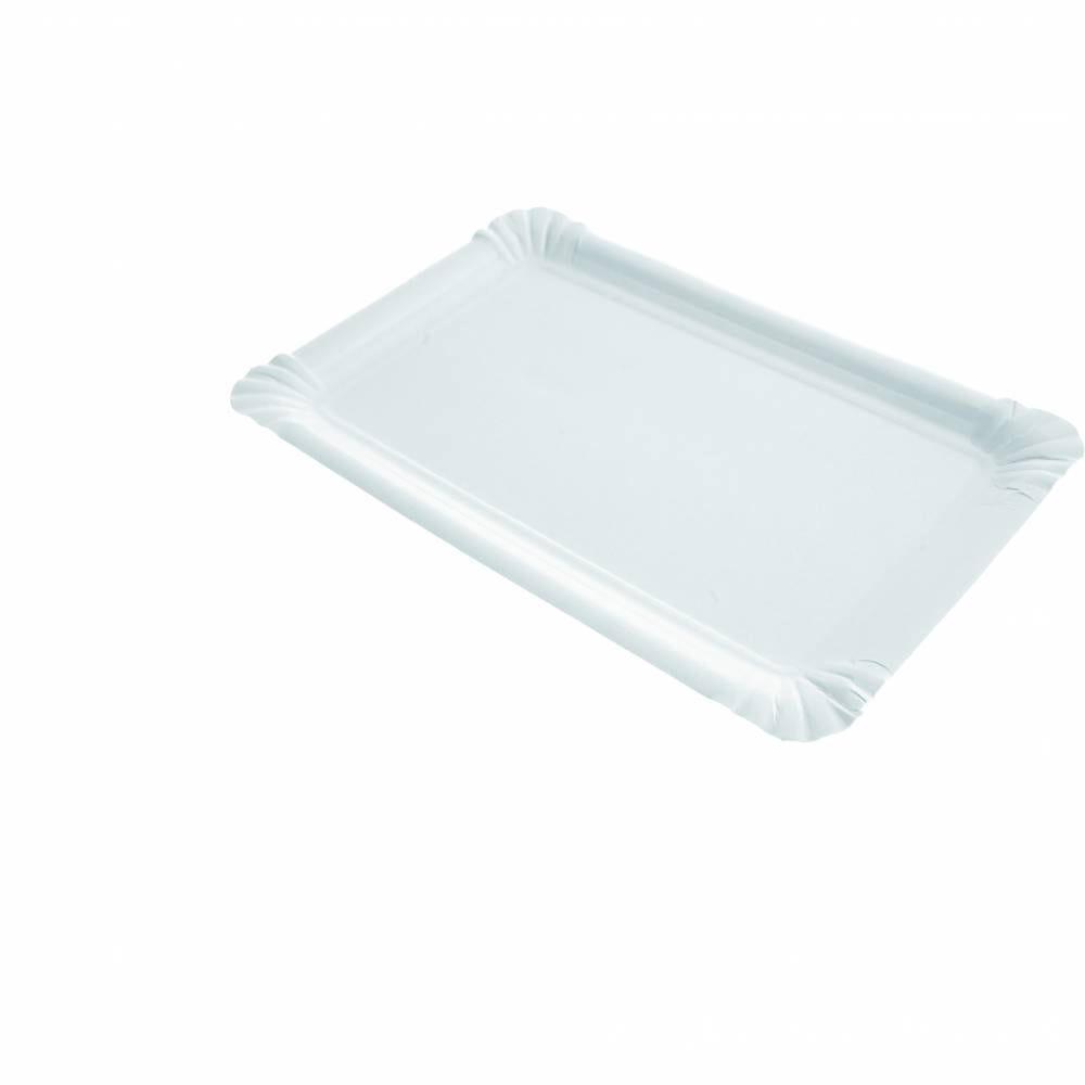 Assiettes rectangle carton 13x20 cm - par 1250