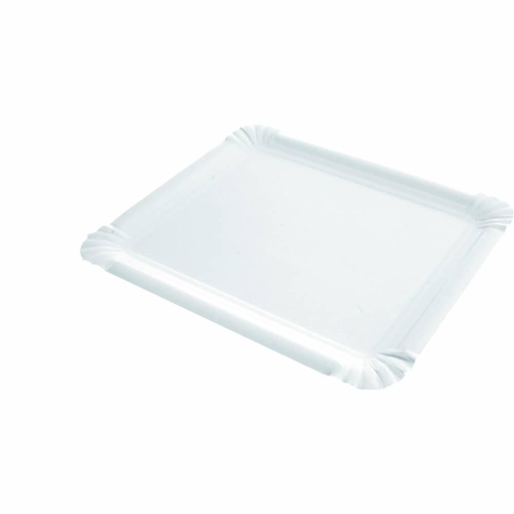 Assiettes rectangle carton 16x20 cm - par 1000