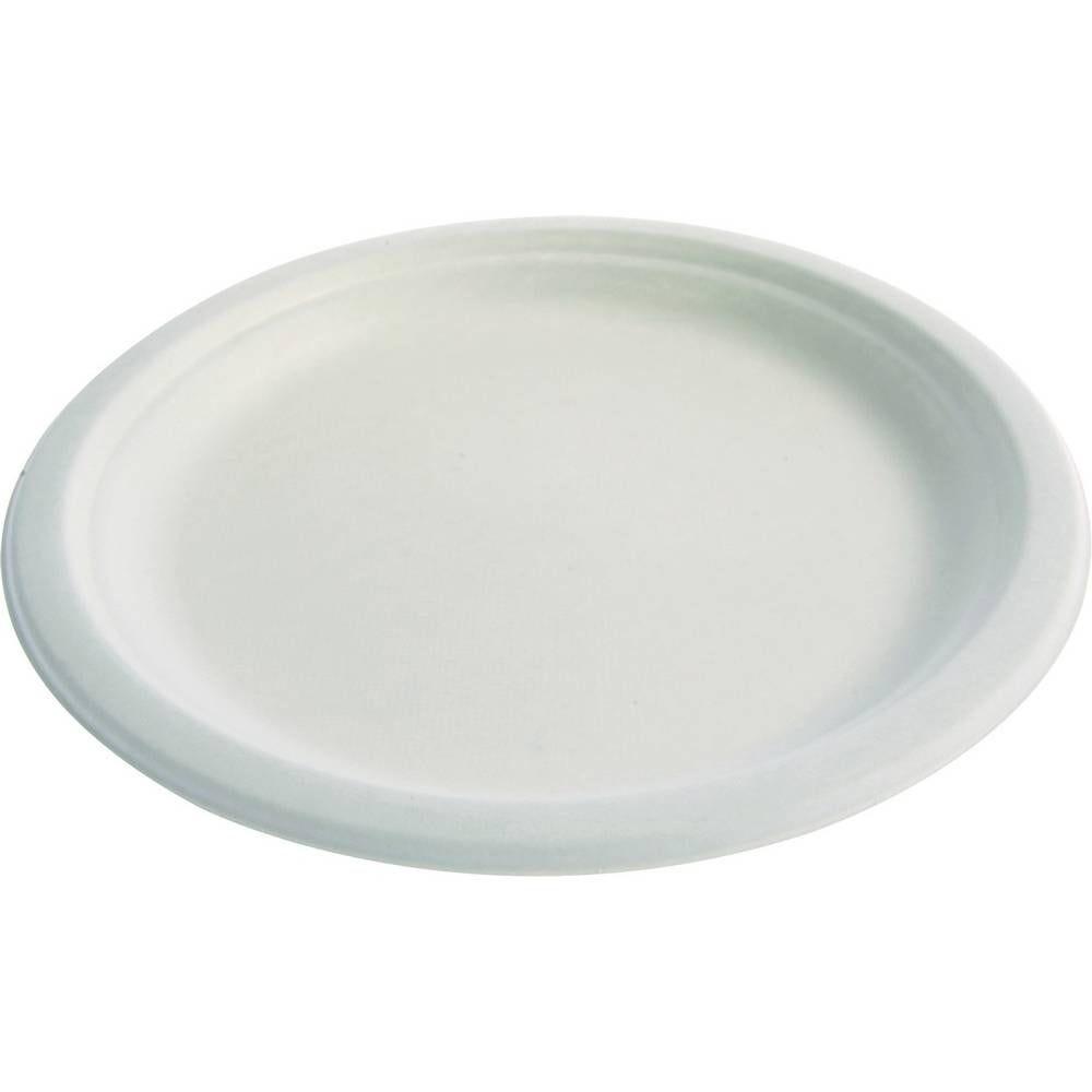 Assiettes en pulpe blanc ø 228 mm -18/+150°C - par 5 lots de 25