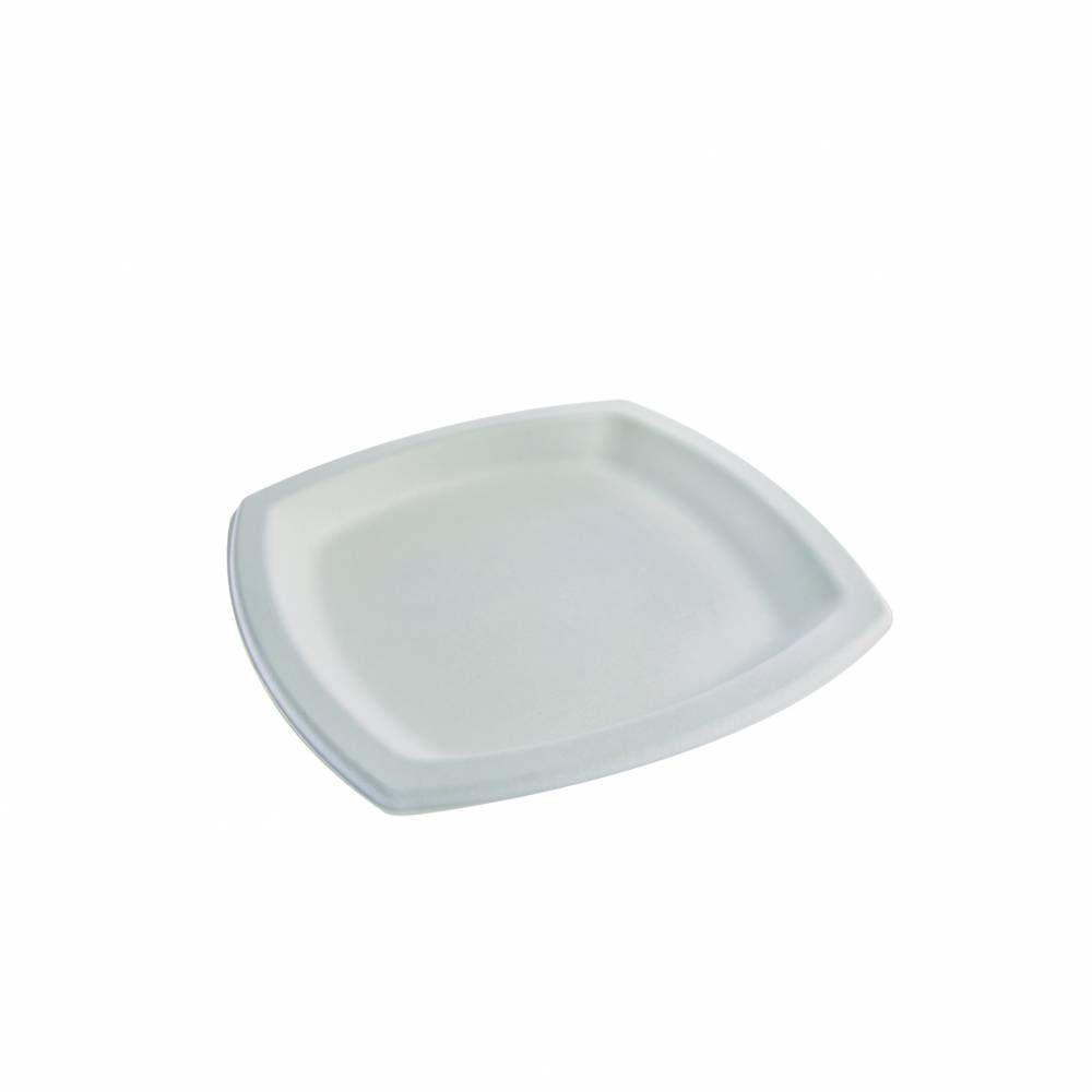 Assiettes carré en pulpe blanc 170 x 170 mm - par 5 lots de 25