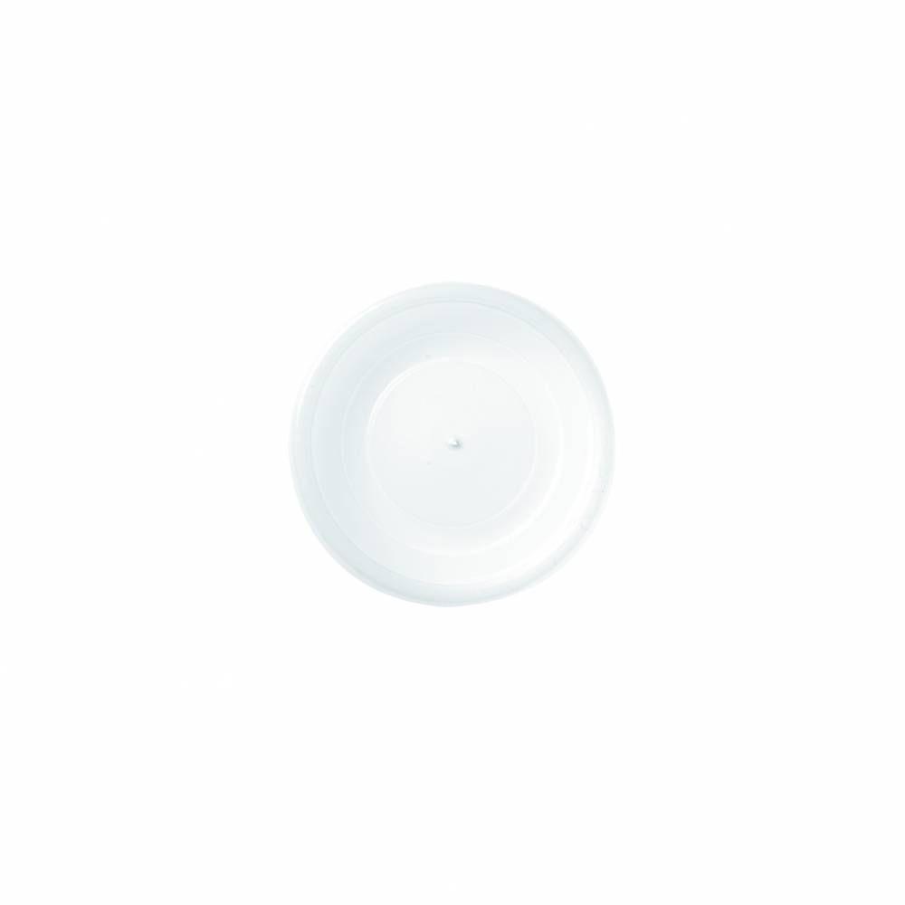 Couvercles blanc dôme 10 cl polystyrène transparent - par 5 lots de 100
