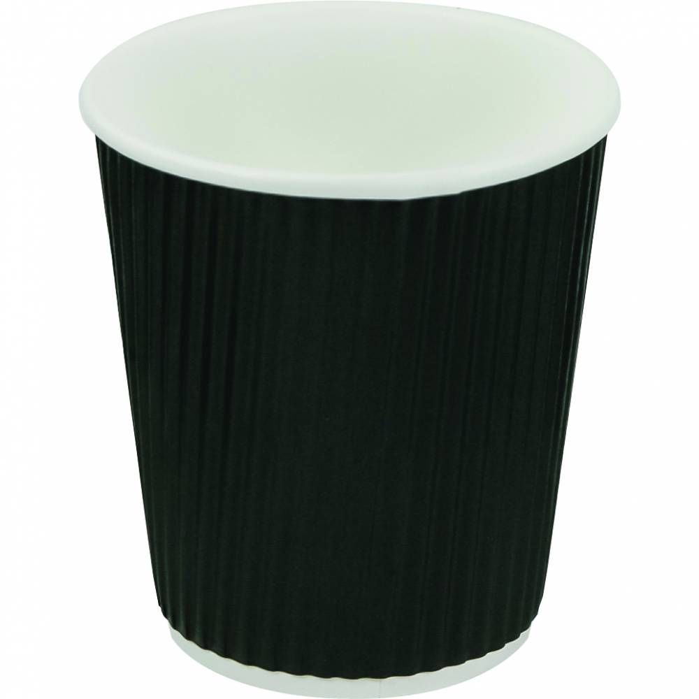 Gobelets café double paroi 17 cl carton noir - par 5 lots de 40