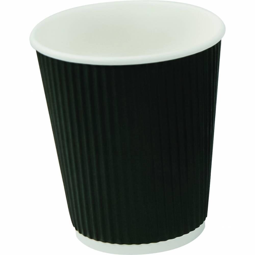 Gobelets café double paroi 27 cl carton noir - par 5 lots de 40