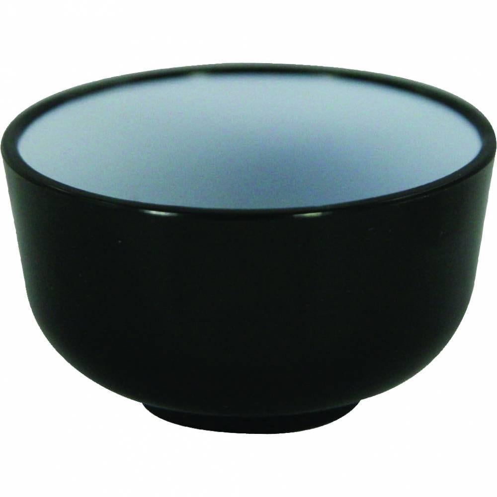 Mini bols noir et blanc polystyrène 45 x 25 mm sans couvercle - par 5 lots de 25