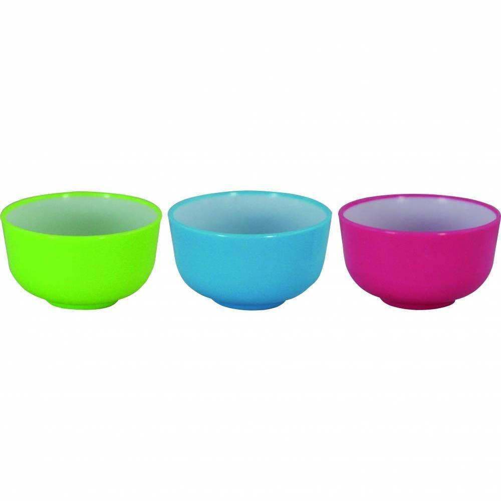 Mini bols 3 couleurs polystyrène 45 x 25 mm sans couvercle - par 5 lots de 25