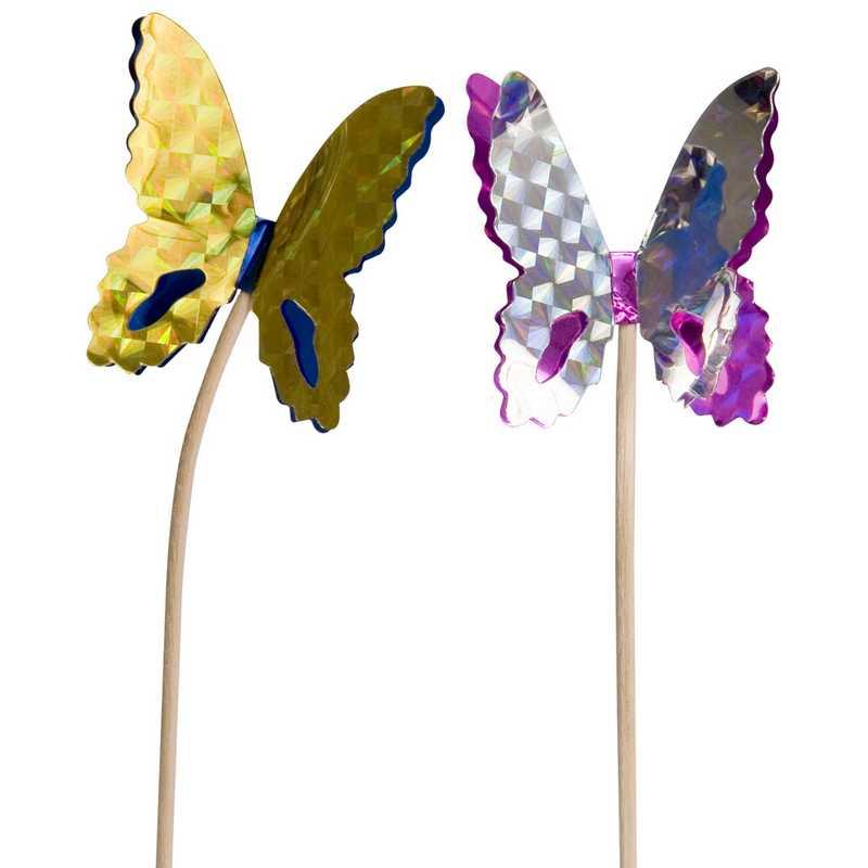 Boite de 100 papillons laser 17 cm (photo)