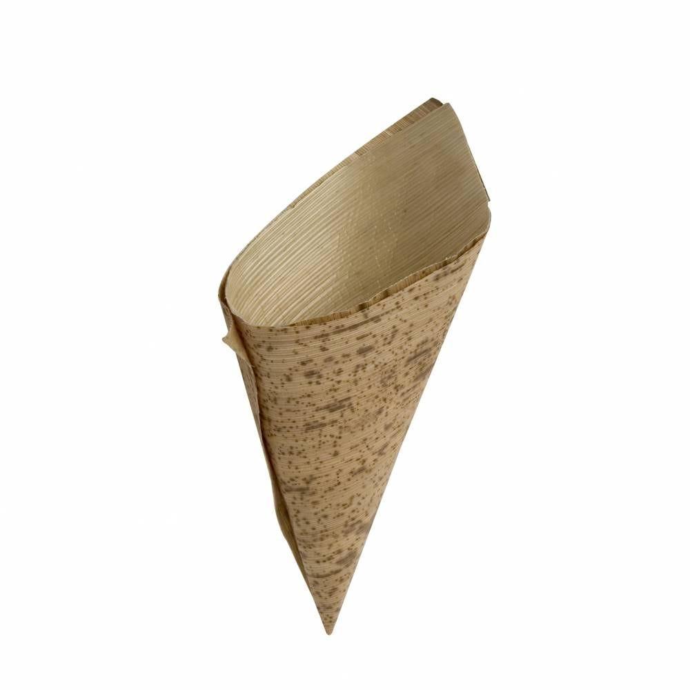Boite de 100 doubles cornets feuille de bambou ø 5,5 cm x 10 cm (photo)