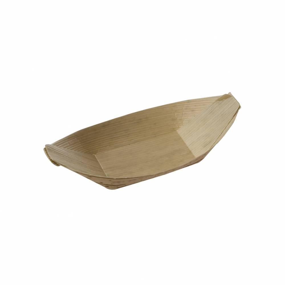 Boite de 100 barques feuille bambou 5 x 9.5 cm h 1,5 cm (photo)