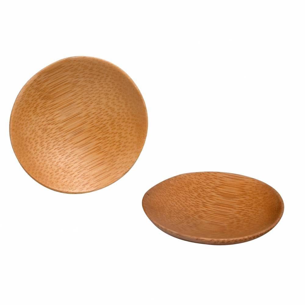 Boite de 10 coupelles rondes en bambou ø 6 cm (photo)