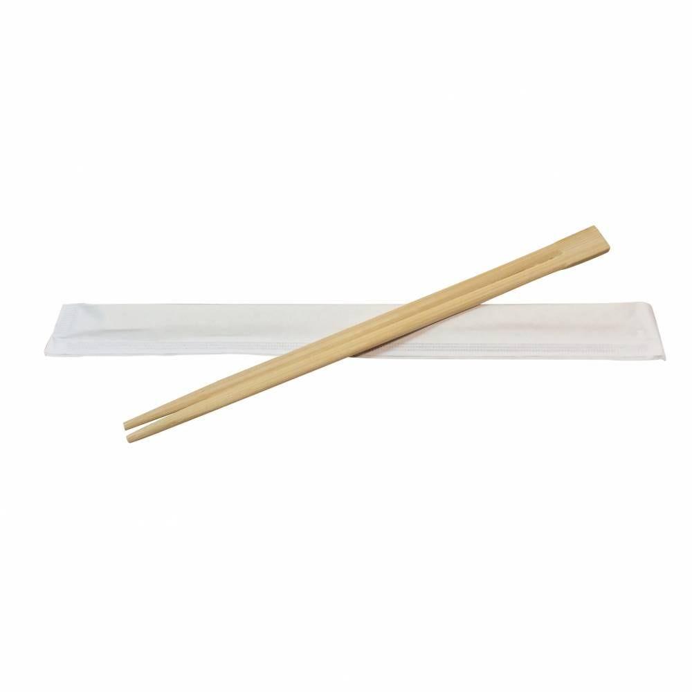 Paires de baguettes en bambou sachet ind fermé 22,8 cm - par 10 lots de 100