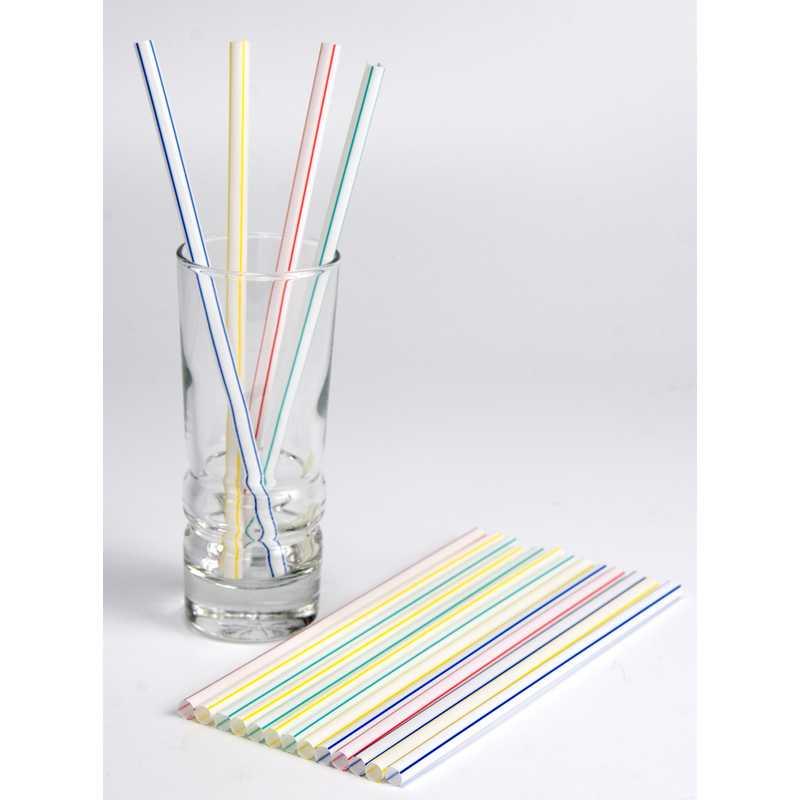 250 pailles milk shake droites striées 21 cm ø 10 mm (photo)