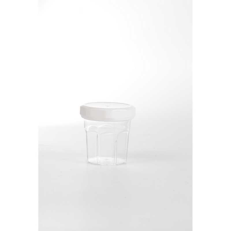 10 mini confiote couvercle blanc - 5 cl ø 4,6 x h 5,6 cm -40°/+80° (photo)