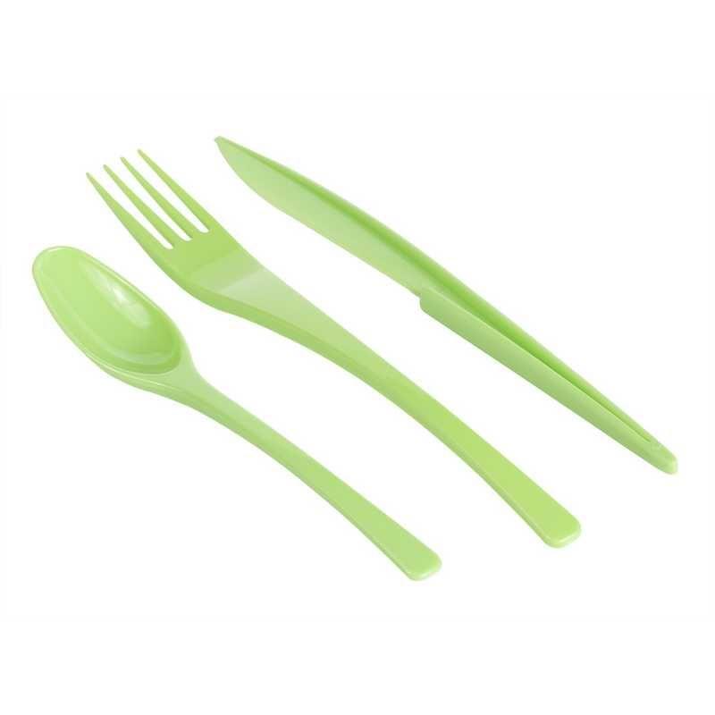 Couverts (10 fourchettes, 10 Couteaux, 10 cuillères) anis - par 24 lots de 30