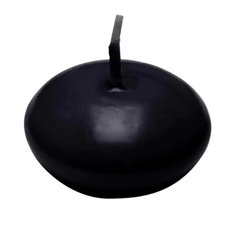 24 bougies flottantes noir +/-4,5 h (photo)