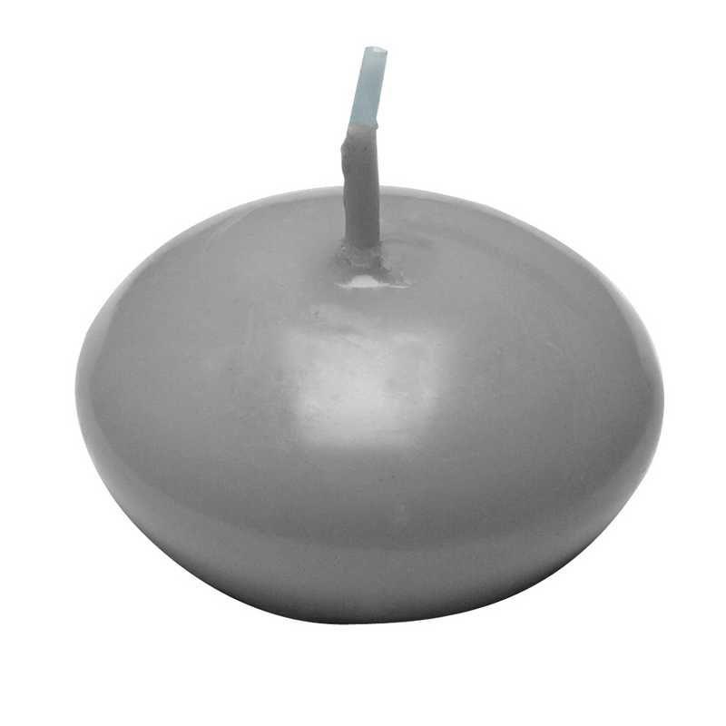 24 bougies flottantes gris souris +/-4,5 h (photo)