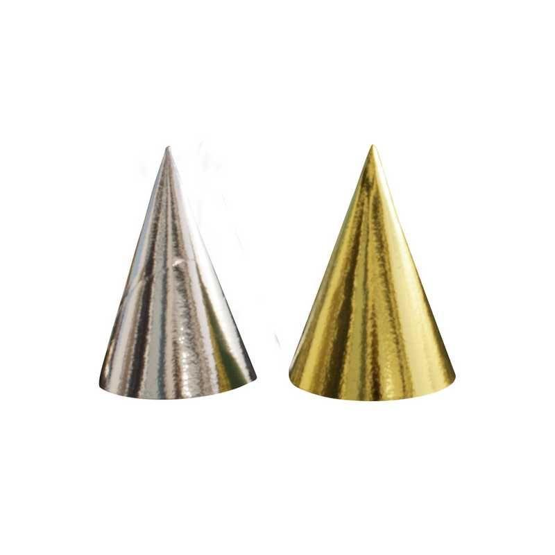 1 chapeau aluminium ø 11 cm ht 16 cm or et argent assorti (photo)