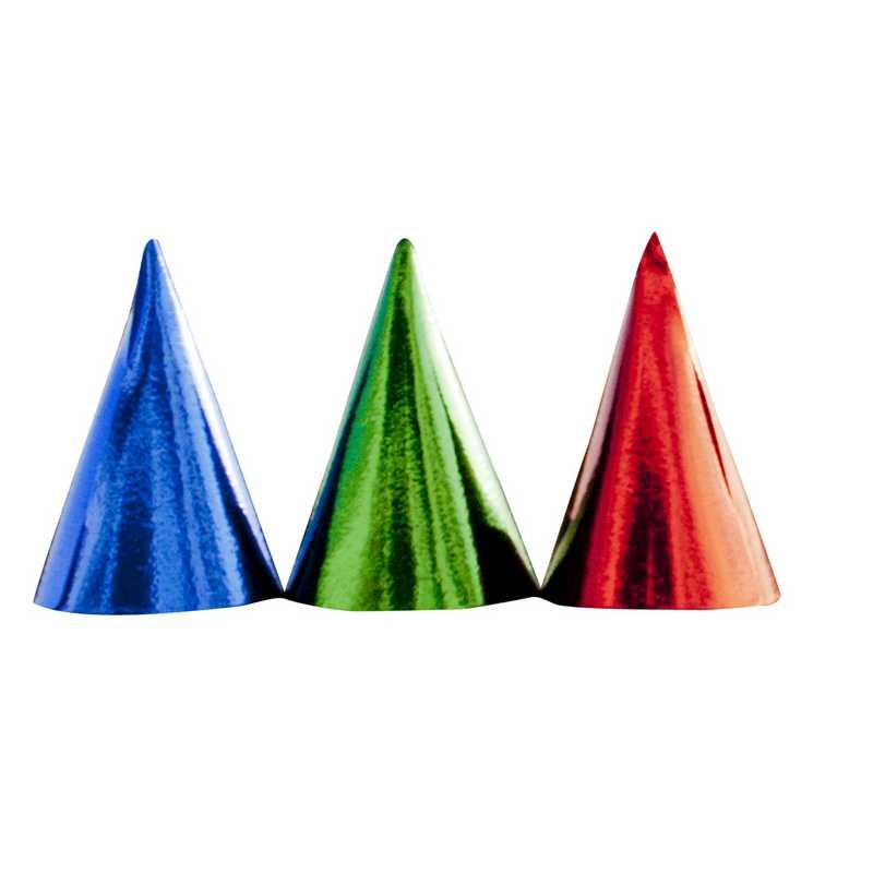 Chapeaux metal ø 11 cm ht 16 cm couleurs assorties rouge, vert, bleu - par lots