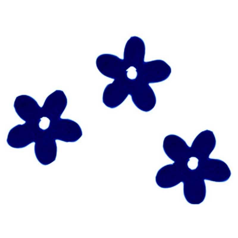 Fleurs coloris bleu en sachet de 500 g
