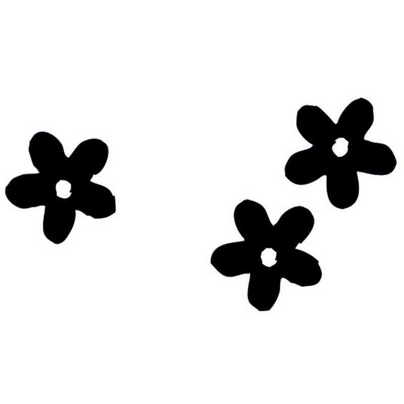 Fleurs coloris noire en sachet de 500 g