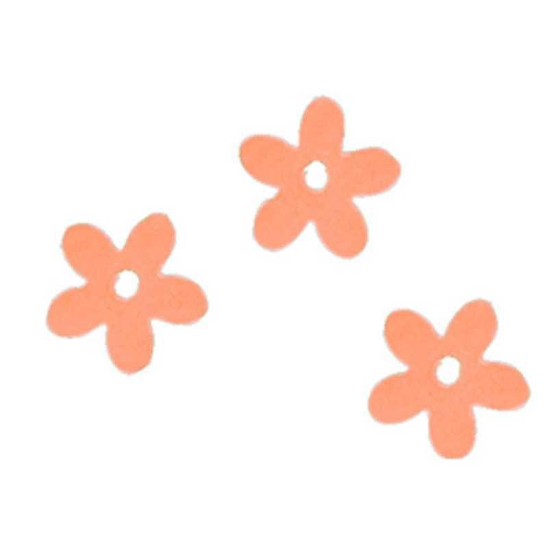 Fleurs coloris saumon en sachet de 500 g