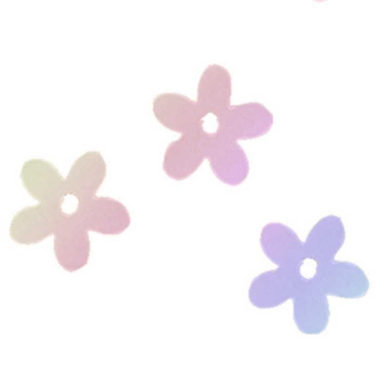 Fleurs coloris transparente irisée en sachet de 500 g