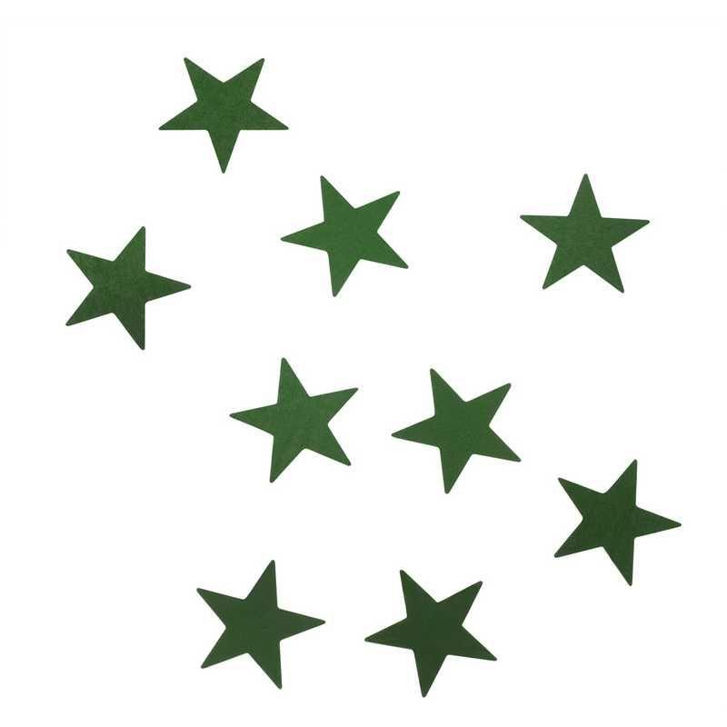 Etoiles vert 1,5 cm en sachet 500 g