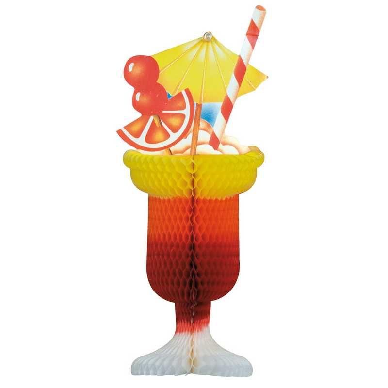 1 coupe cocktail ø 15 x 35 cm ton orangé (photo)