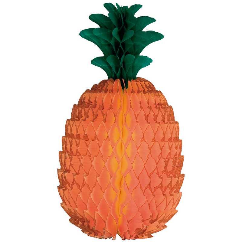 1 ananas 54 cm papier alvéolé (photo)