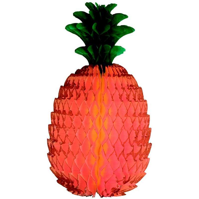 1 ananas en papier alvéolé 22,5 cm (photo)