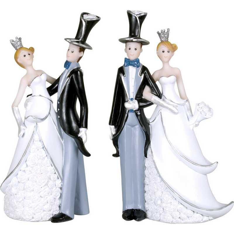 Couple de mariés fantaisie je te ramène 13 cm - par 6 lots