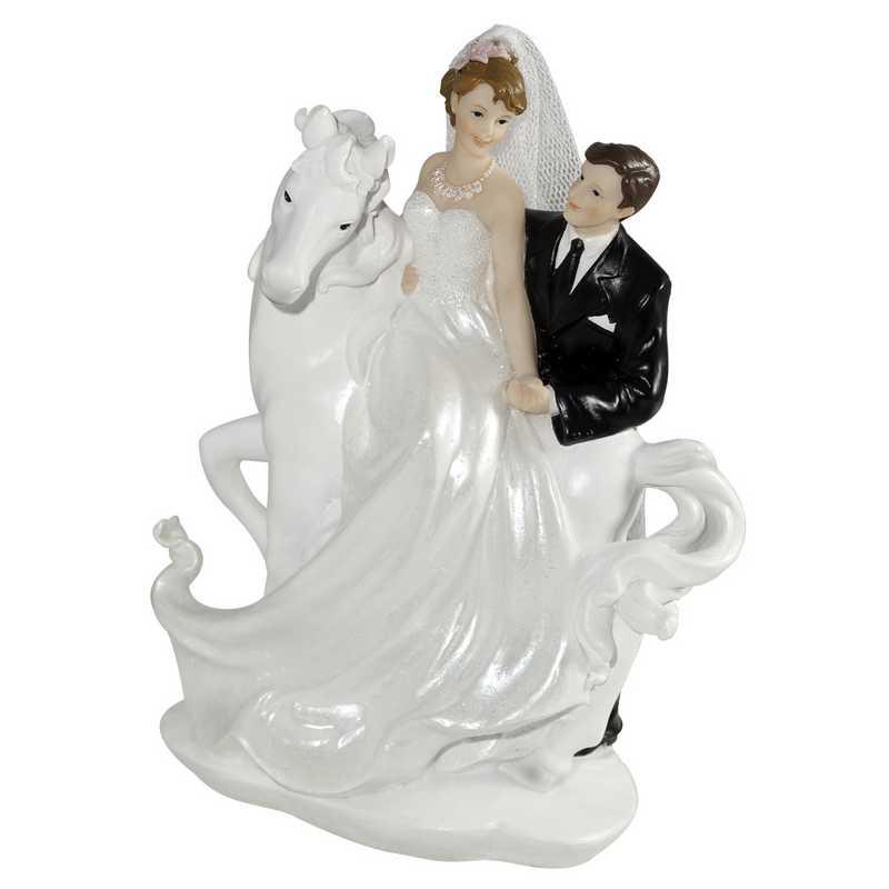 Couple mariés fantaisie je te ramène par la peau… 13 cm - par 6 lots de 1