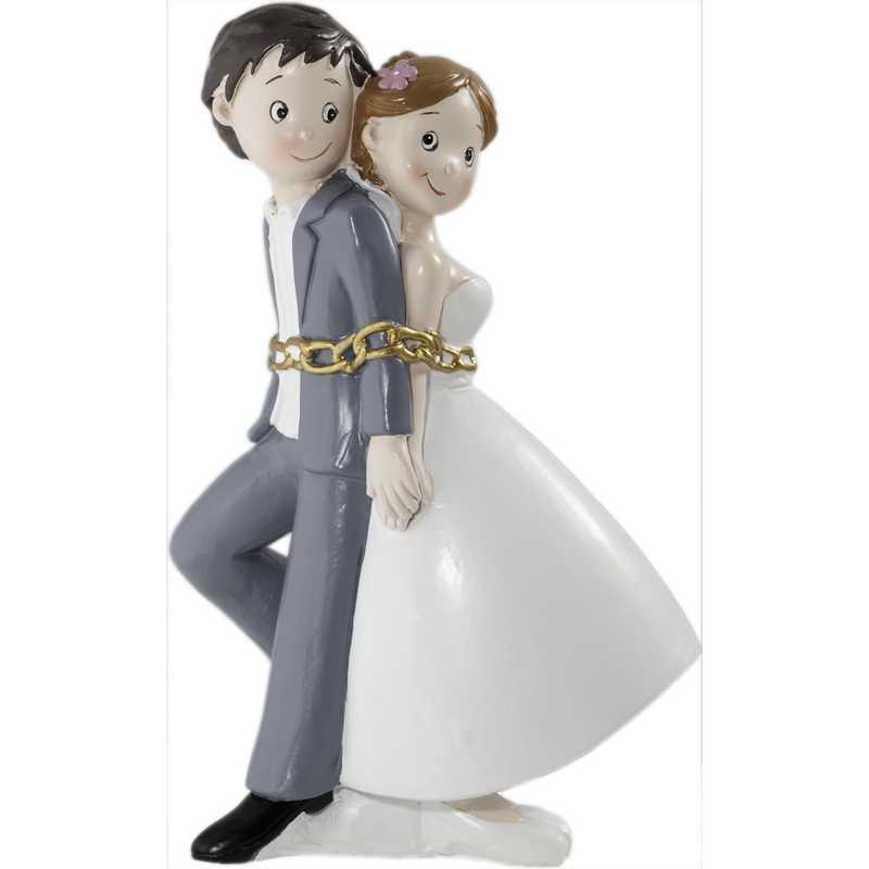 Couple bd enchaînés pour la vie 15,5 x 10 x 7,5 cm - par 6 lots de 1