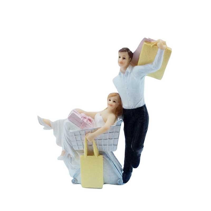 Couple de mariés fantaisie j'ai fait mes Courses 14,4 x 12,5 x 4,4 cm - par 6 lo