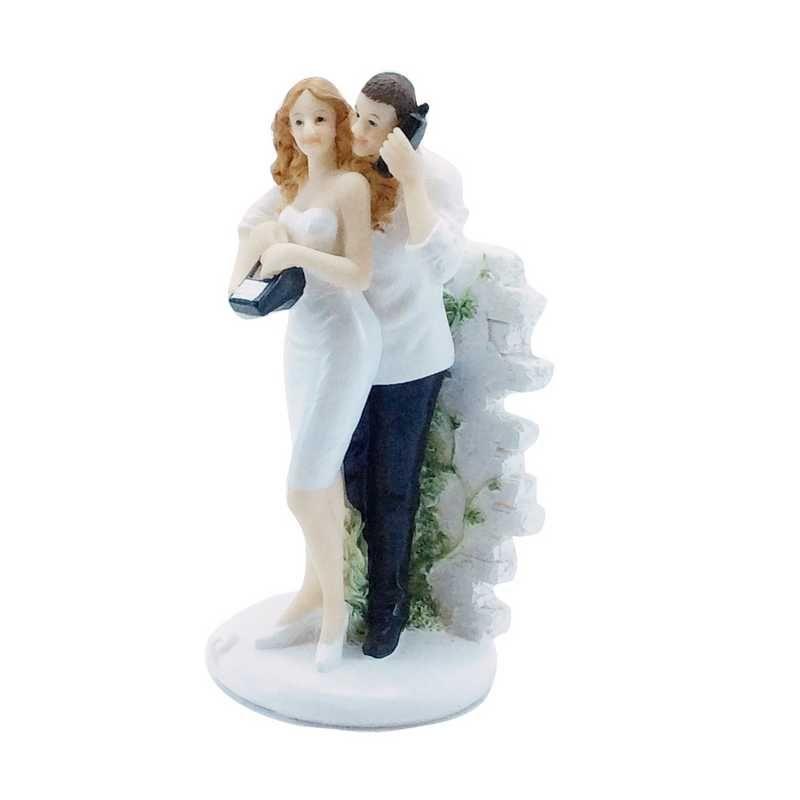 Couple de mariés fantaisie allo j'me marie ! 14,3 x 7,3 x 6,6 cm - par 6 lots