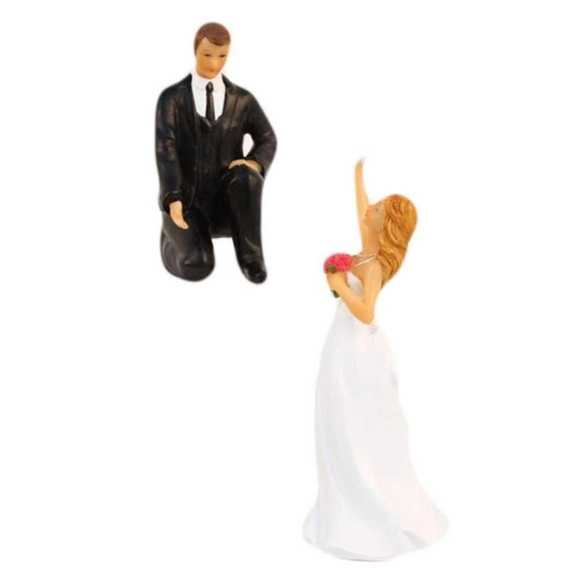 Couple de mariés fantaisie tu viens chéri ? 14,5 x 12 x 6,5 cm - par 6 lots