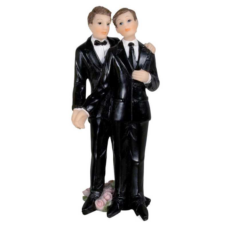 Couple hommes costume noir 10,6 x 4,5 x 5,3 cm - par 6 lots