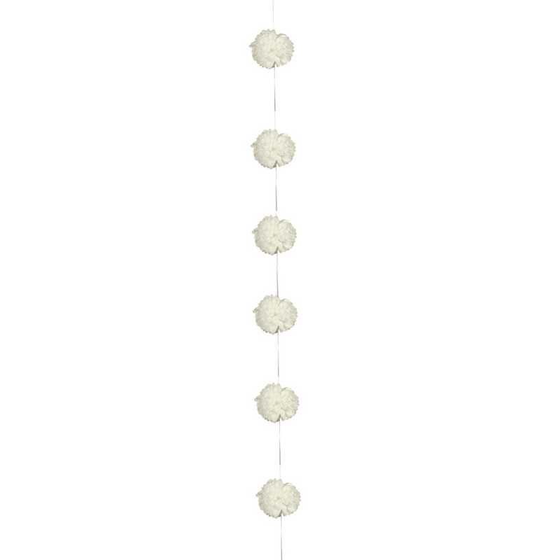 1 guirlande 6 fleurs papier de soie 3,5 m perle (photo)