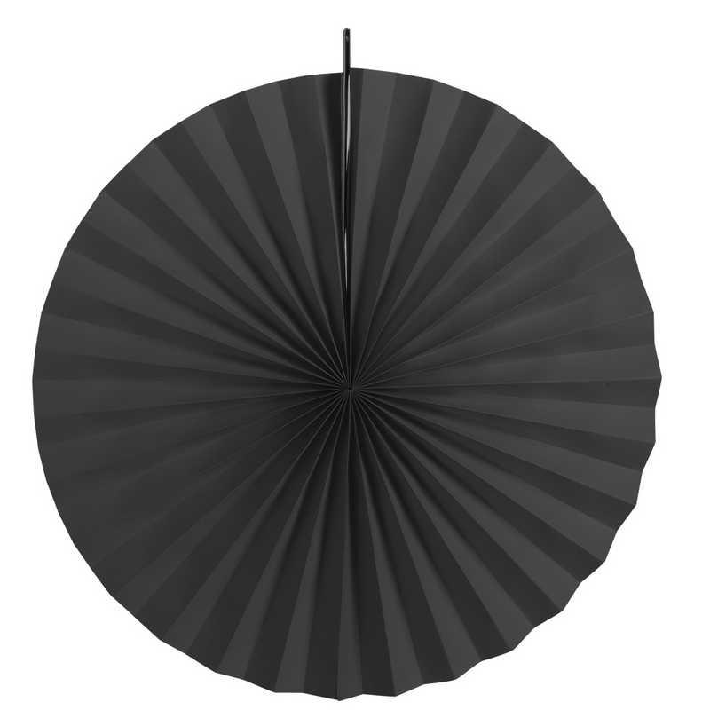 Eventails en papier cartonné coloris noir ø 30, 40 et 50 cm - par 6 lots de 3