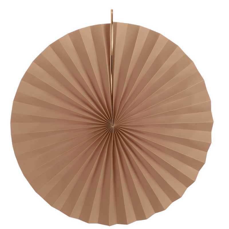 Eventails en papier cartonné coloris pêche-corail ø 30, 40 et 50 cm - par 6 lots