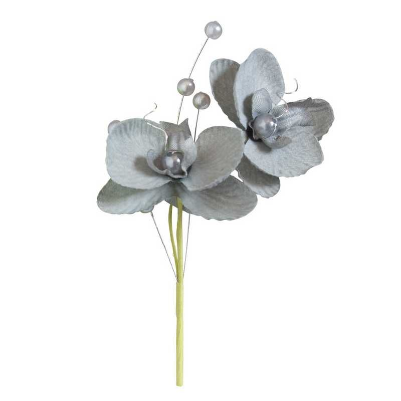 Double orchidées royales gris hauteur 12 cm - par 12 lots de 6