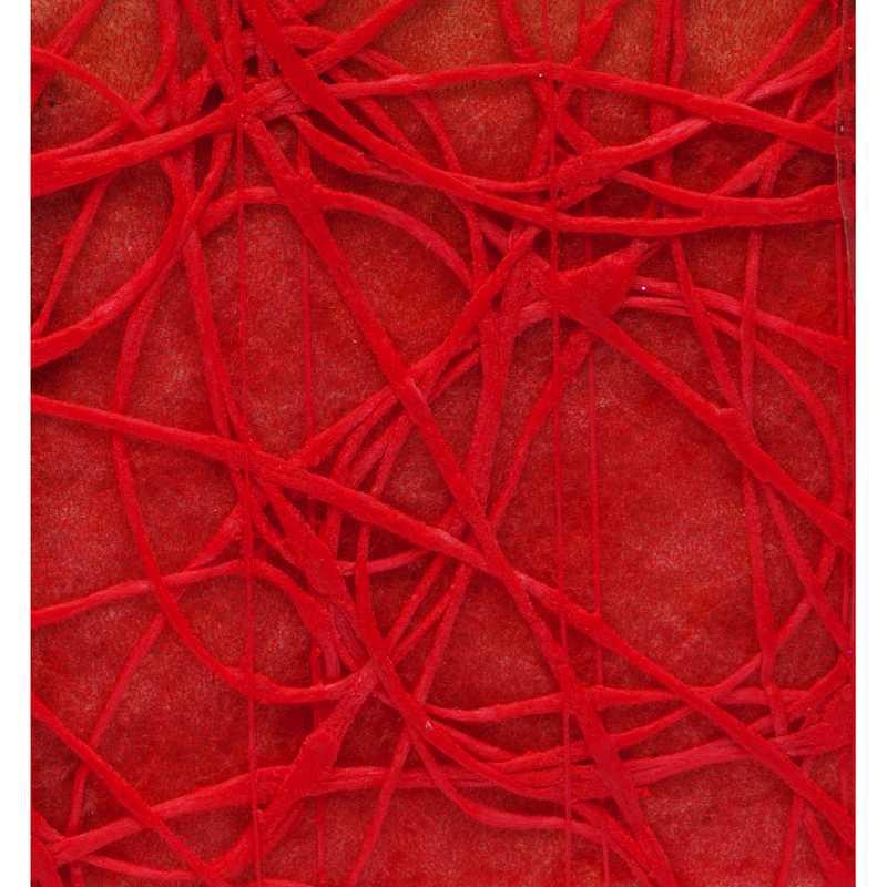 Chemin de table shibuya non-tissé rouge 30 cm x 5 m - par 5 lots